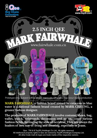 "Toy2R Mark Fairwhale 2.5"" Qee Vinyl Figure Set of 4"