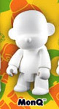 "Toy2R Qee DIY 8"" White Vinyl Figure - MON"