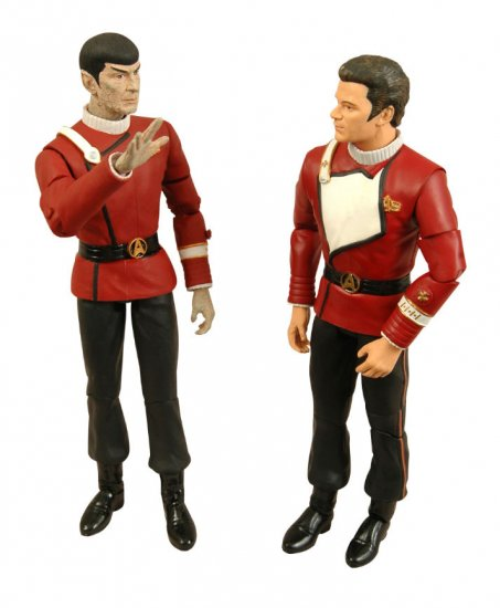Star Trek TWOK Death of Spock 2-pk Kirk & Spock Figure