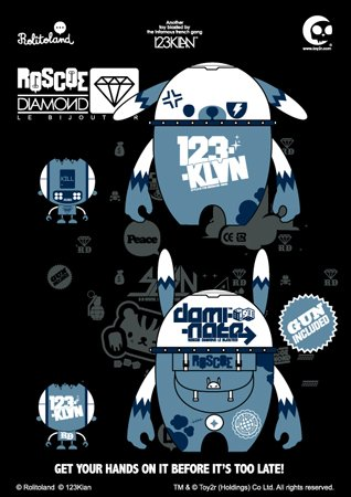 Toy2R Nedzed 123 Klan Rabbit Roscoe Diamond's Dogbot