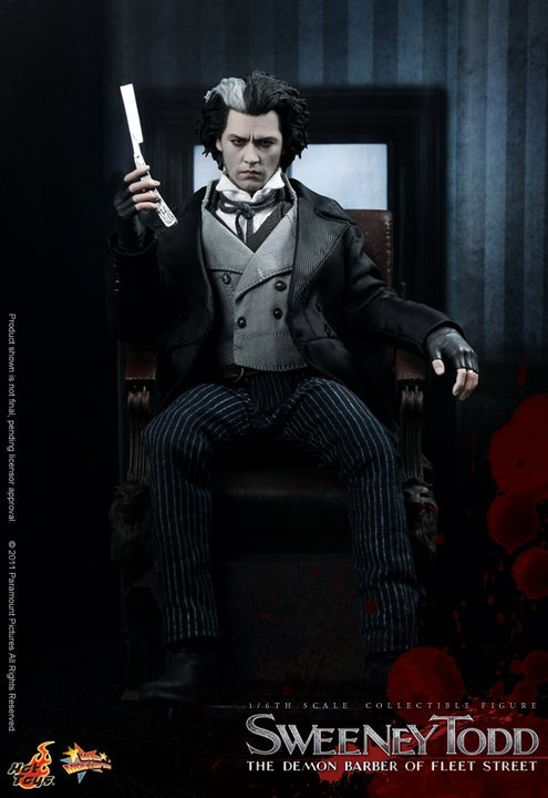 Hot Toys Sweeney Todd 12 inch Collectible Figure