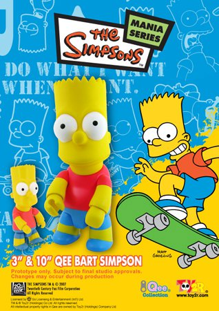 Toy2R Simpsons Bart Simpson 10 Inch Vinyl Figure