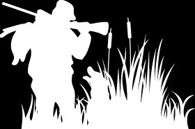 "(HNT1#74) 6"" white vinyl Duck hunter siloutte hunter die cut decal sticker."