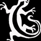 "(LIZ 1) 6"" white vinyl Lizard gecko climbing die cut decal sticker."