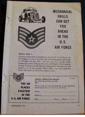 1955 AIR FORCE RECRUTING AD