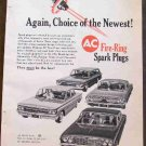 AC FIRE RING SPARK PLUGS AD 1960