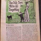 FOLK TOYS WE'RE ALL FORGETTING PLANS 1960