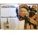 HAMMS BEER AD 1970