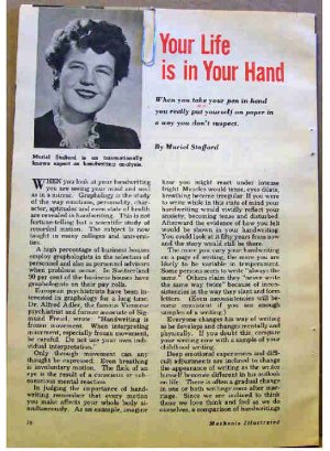 HANDWRITING ANALYSIS ARTICLE 1955
