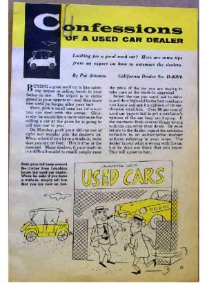 CONFESSIONS OF A USED CAR DEALER 1955