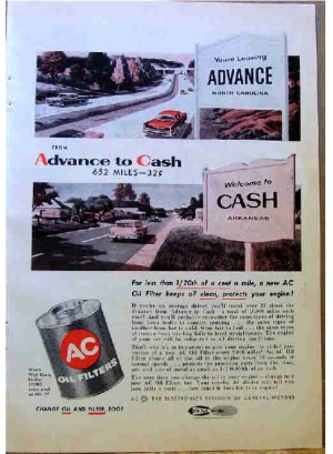 AC OIL FILTER AD 1957