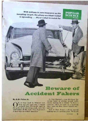 ACCIDENT FAKERS ARTICLE 1961