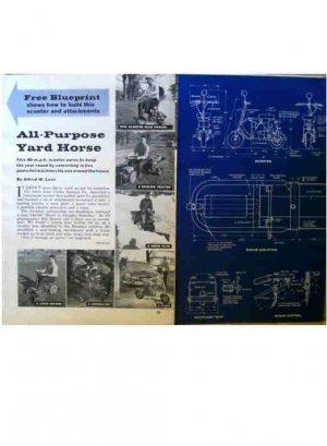 YARD HORSE ARTICLE & BLUEPRINT 1961