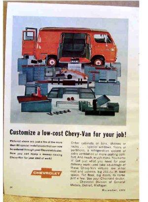 CHEVY VAN AD 1966
