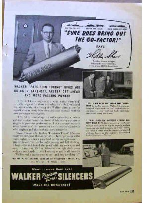 WALKER SILENCERS AD 1954