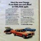 OLDSMOBILE OMEGA AD 1973