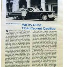 A CHAUFFEURED CADILLAC ARTICLE 1973
