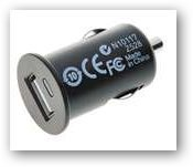 Car Cigarette Powered 1000mA USB Adapter/Charger - Black (DC 12V)