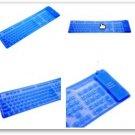 Ultrathin 0.3mm Blue Flexible Waterproof Keyboard