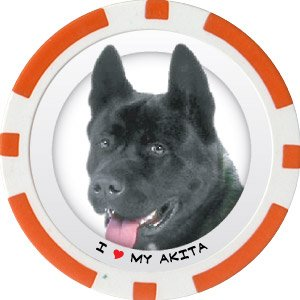 AKITA DOG BREED Poker Chips (11.5g) Sold in Packs of 10