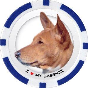 BASENJI DOG BREED Poker Chips (11.5g) Sold in Packs of 10