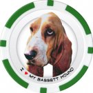 BASSET HOUND DOG BREED Poker Chips (11.5g) Sold in Packs of 10