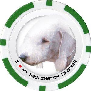 BEDLINGTON TERRIER DOG BREED Poker Chips (11.5g) Sold in Packs of 10