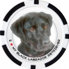 BLACK LABRADOR RETRIEVER DOG BREED Poker Chips (11.5g) Sold in Packs of 10