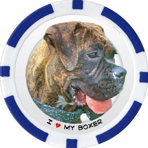 BOXER DOG BREED Poker Chips (11.5g) Sold in Packs of 10