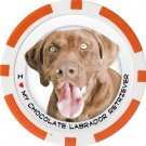 CHOCOLATE LABRADOR RETRIEVER DOG BREED Poker Chips (11.5g) Sold in Packs of 10