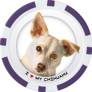CHIHUAHU DOG BREED Poker Chips (11.5g) Sold in Packs of 10