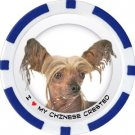 CHINESE CRESTED DOG BREED Poker Chips (11.5g) Sold in Packs of 10