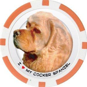 COCKER SPANIEL DOG BREED Poker Chips (11.5g) Sold in Packs of 10