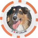 COLLIE DOG BREED Poker Chips (11.5g) Sold in Packs of 10