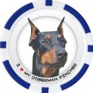DOBERMAN PINSCHER DOG BREED Poker Chips (11.5g) Sold in Packs of 10