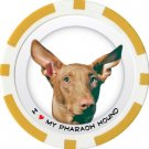 PHARAOH HOUND DOG BREED Poker Chips (11.5g) Sold in Packs of 10