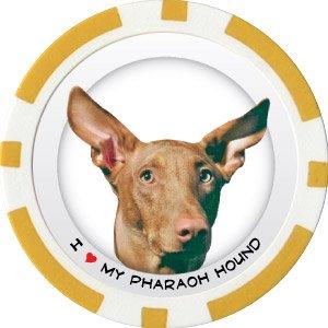PHARAOH HOUND DOG BREED Poker Chips (11.5g) Sold in Packs of 10