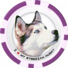 SIBERIAN HUSKY DOG BREED Poker Chips (11.5g) Sold in Packs of 10