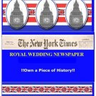 ROYAL WEDDING PRINCE WILLIAM  KATE NEW YORK TIMES 4/29