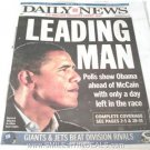 BARACK OBAMA NEWSPAPERS NEW YORK DAILY NEWS