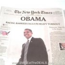 PRESIDENT BARACK OBAMA NEWSPAPER LOT - 30 PAPERS FROM ELECTION to INAUGURATION