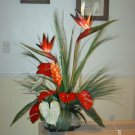 ELEGANT TROPICAL FLORAL ARRANGEMENT  BIRDS OF PARADISE