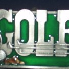 GOLF PEWTER SPORTS BELT BUCKLE BY SISKIYOU