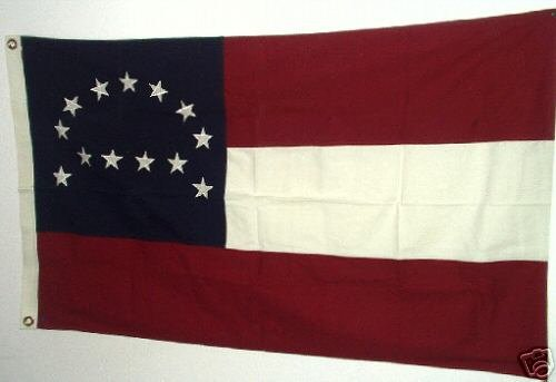 1ST NATIONAL FLAG OF THE CONFEDERACY... STARS AND BARS