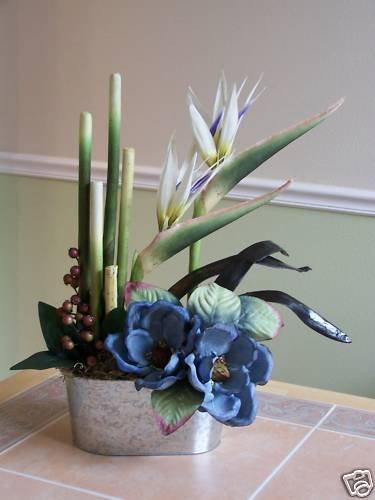 Birds of Paradise with Magnolias arrangement