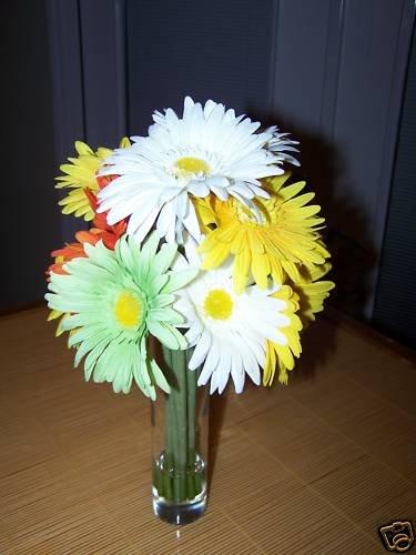 Gerbera Daisies bouquet in glass vase