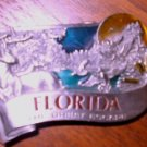 FLORIDA BELT BUCKLY BY BERGAMOT...SOLID PEWTER