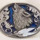 HOWLING WOLF WILDLIFE BELT BUCKLE