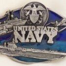United States Navy Military Pewter Belt Buckle
