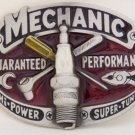 MECHANIC PEWTER MEN'S OCCUPATION BELT BUCKLE
